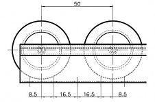 Roller Track, Flanged, Roller Diagram